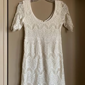 Lacy white dress from Pins and Needles